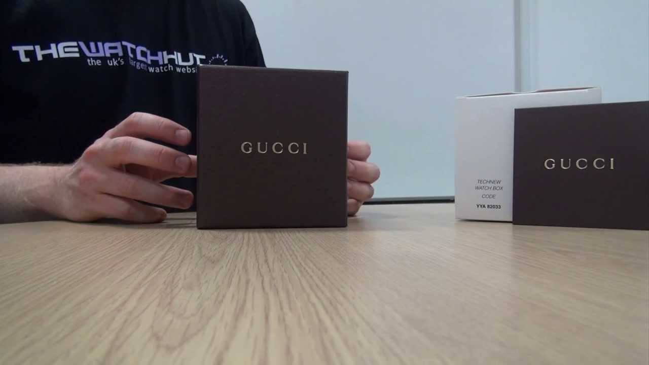 44aa085c0b7 Gucci Unboxing (Website Version). The Watch Hut