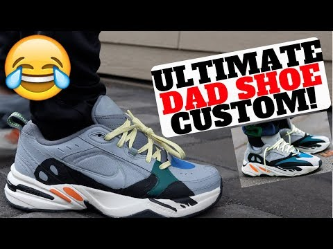 "ADIDAS YEEZY BOOST 700 ""WAVE RUNNER"" x NIKE MONARCH CUSTOM!"