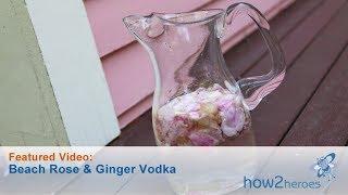 Beach Rose & Ginger Vodka