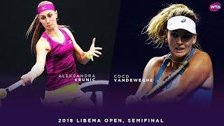 Aleksandra Krunic vs. CoCo Vandeweghe | 2018 Libema Open Semifinals | WTA Highlights