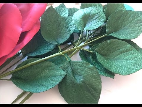 МК как я делаю листья к ростовым розам