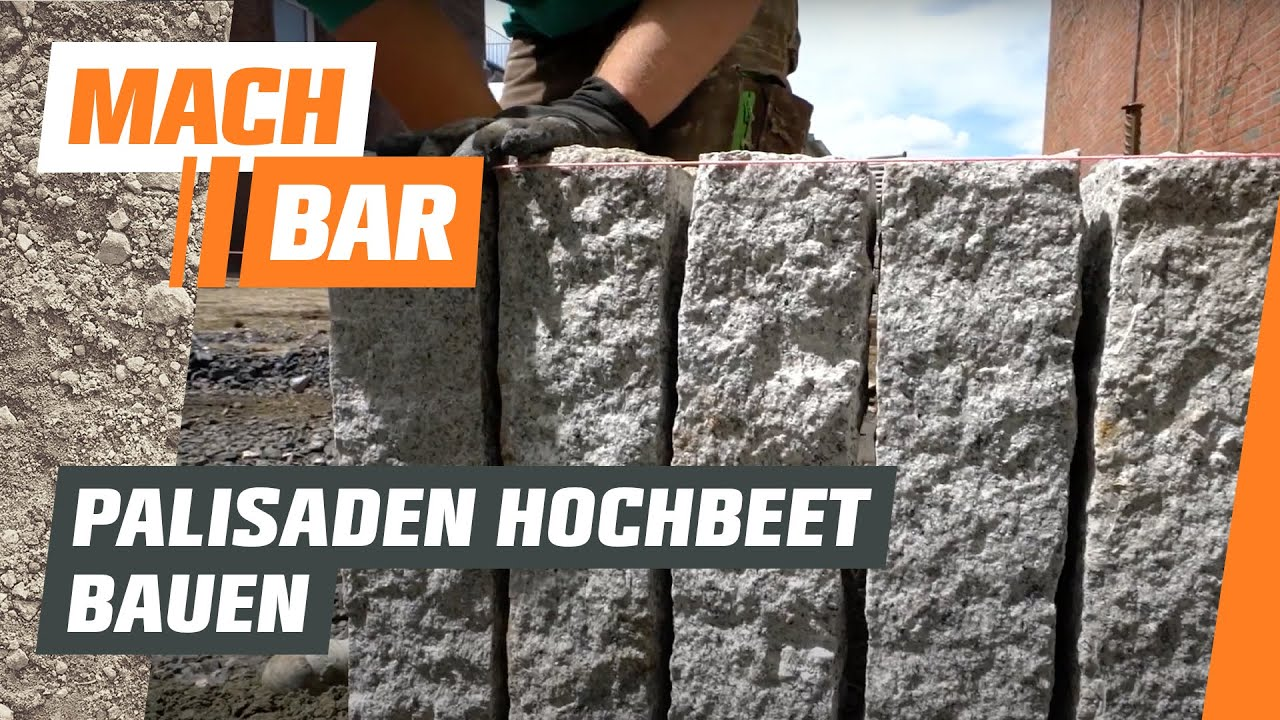hochbeet bauen aus palisaden obi youtube. Black Bedroom Furniture Sets. Home Design Ideas