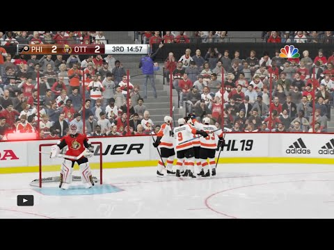 NHL 19 - Philadelphia Flyers Vs Ottawa Senators Gameplay - NHL Season Match Oct 10, 2018