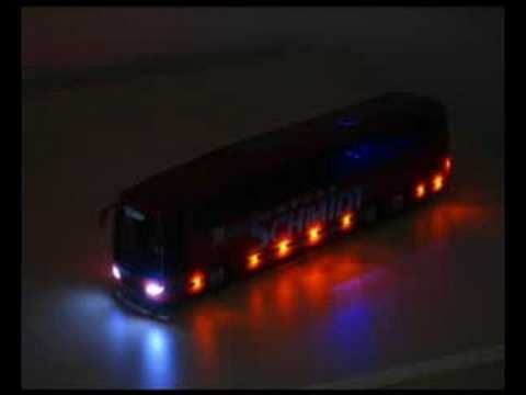 Reisebus Modell Mit LED Beleuchtung