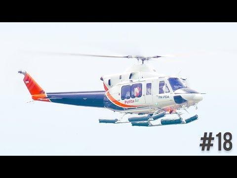 Plane Spotting at Kualanamu International Airport - Pelita Air Helicopter #18   Broewnis Travel