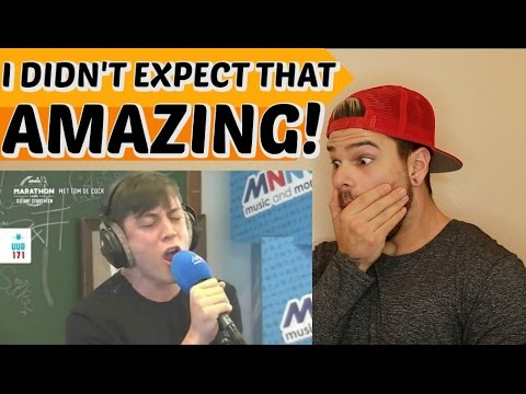 Loïc Nottet Chandelier Both LIVE (cover)REACTION!