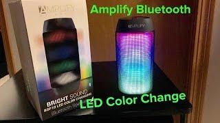 Bright Sound Amplify Bluetooth Speaker (LED Color Change)