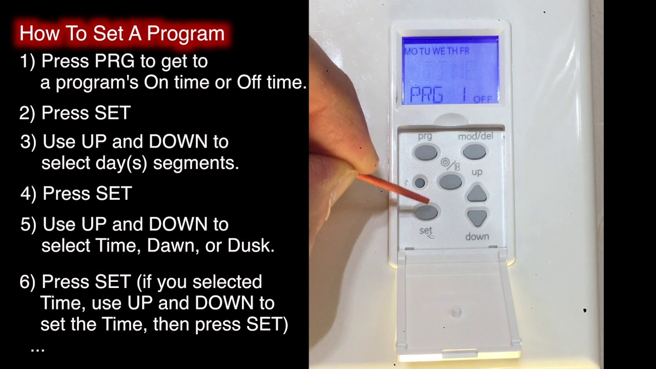 how to program a defiant indoor in wall digital timer model 32648 instructions [ 1280 x 720 Pixel ]