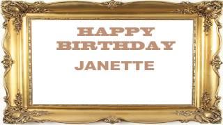 Janette   Birthday Postcards & Postales