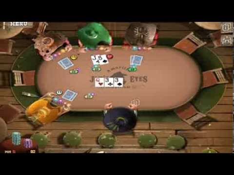 В покер Играем  GOVERNOR OF POKER 3 Плохие карты
