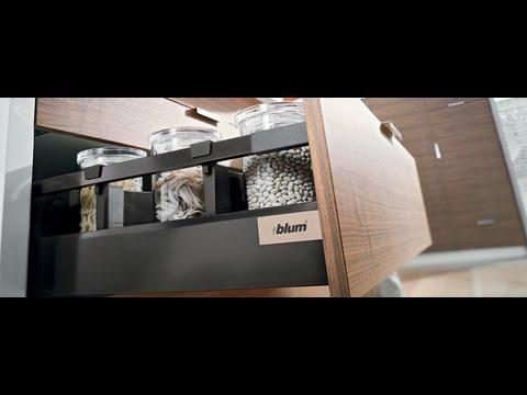 blum antaro drawer boxes black white 450mm deep youtube. Black Bedroom Furniture Sets. Home Design Ideas