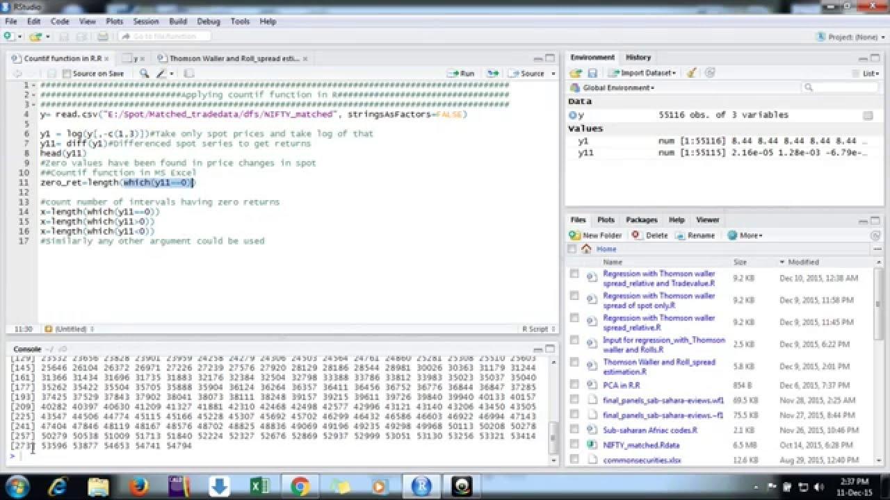 Using countif function in R studio