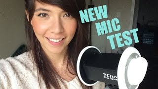 ASMR 3Dio Free Space Mic Test! *Whispers, Crinkles, and Ear Brushing*
