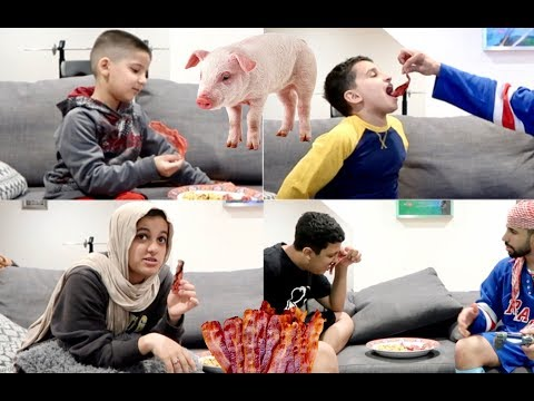 MUSLIM KIDS EATING BACON PRANK!!