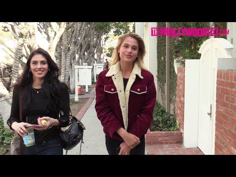 Meredith Mickelson Speaks On The Victoria's Secret Fashion Show At Alfred Coffee With Her Hot Friend