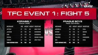 Full video of Fight 5 - Prague Boys (Prague, Czech Republic) vs Korabely (Mykolaev, Ukraine)