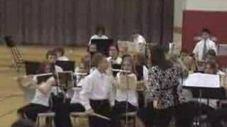 IV 6th Grade band. Jeremy rockin' out with some cowbell.