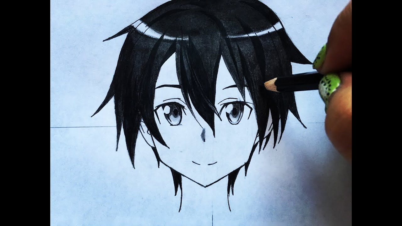 How to draw kirito sword art online step by step tutorial