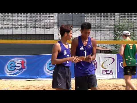 2016-05-07 SMM AVC Beach Volleyball U17 EST Cola Men's | Round 1 | THA 1 - AUS 2