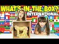 WHAT'S IN THE BOX CHALLENGE - INTERNATIONAL