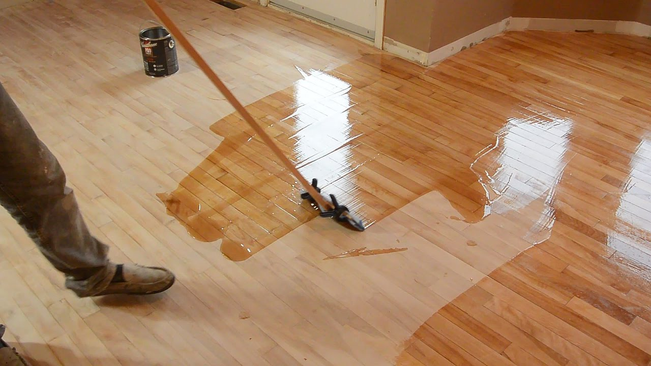 Hardwood floor refinishing by trial and error - YouTube
