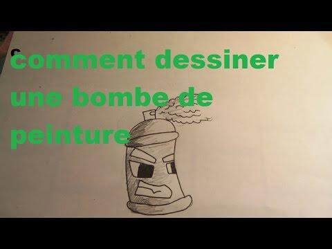tuto pour dessiner une bombe de peinture doovi. Black Bedroom Furniture Sets. Home Design Ideas