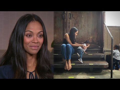 EXCLUSIVE: Zoe Saldana Says Her 2-Year-Old Twins Are 'Totally Gangsters'