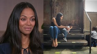 EXCLUSIVE: Zoe Saldana Says Her 2-Year-Old Twins Are