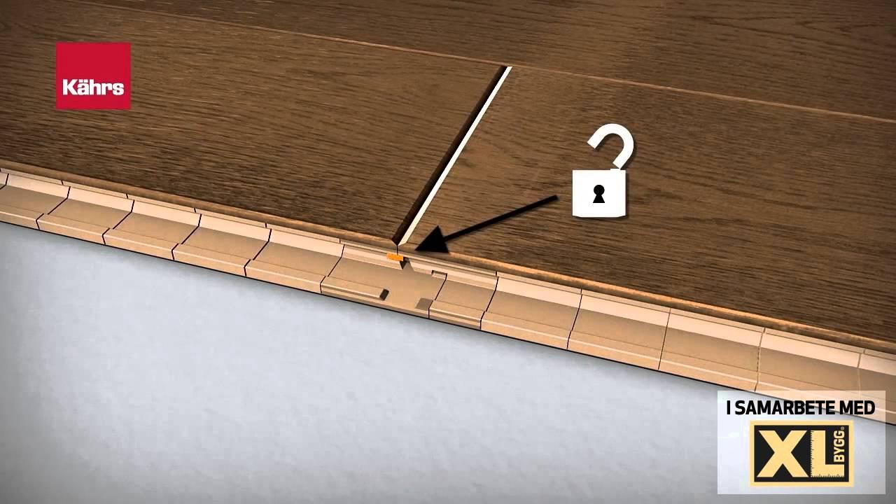 Hur du låser Kährs golv - YouTube