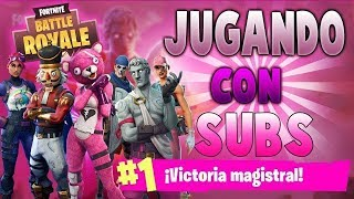 Jugando Con Subs A Fortnite + Road to 1150 Subs! UNETE!