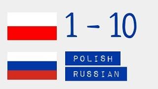 Числа от 1 до 10  - Польский язык - Русский язык