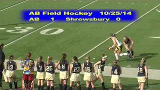 Acton Boxborough Varsity Field Hockey vs Shrewsbury 10/25/14