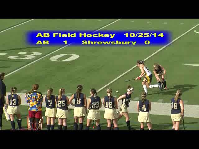 Acton Boxborough Varsity Field Hockey vs Shrewsbury 10/25/14
