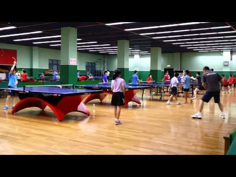 Table Tennis Training in Beijing Shichahai Sport School