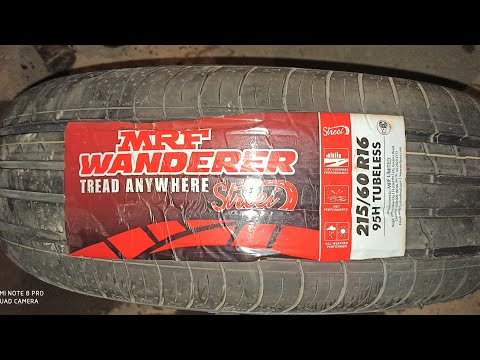 New Tyres MRF WANDERER 215/60 R16 95H Tubeless changed