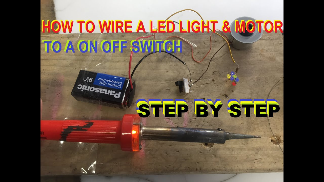 Wiring Diagram For Multiple Lights One Switch 2 Ecotec Timing Marks How To Wire A Led Light Motor And On Off - Youtube
