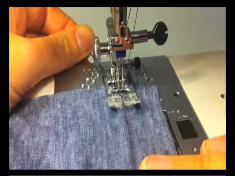 Hemming Stretch Fabrics With A Twin Needle YouTube Delectable Sewing Machine For Hemming
