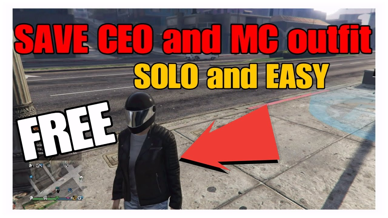 SOLO ° FREE OUTFIT ° HOW TO SAVE CEO AND MC OUTFIT GTA5 ONLINE