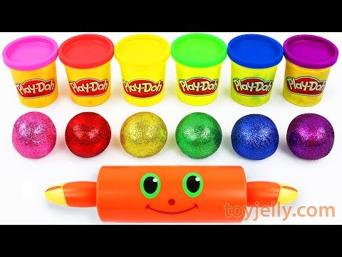 Glitter Play Doh Clay Molds Learn Colors & Numbers Baby Songs Nursery Rhymes Kids Fun Learning Video
