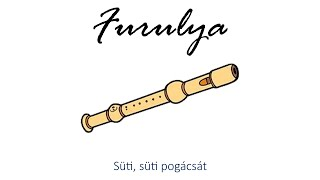 Hangszer ovi - Süti, süti pogácsát (furulya) / Hungarian children song (cat, cow, dog, animal)