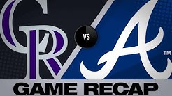 4/26/19: Story, Arenado power Rox to 8-4 victory