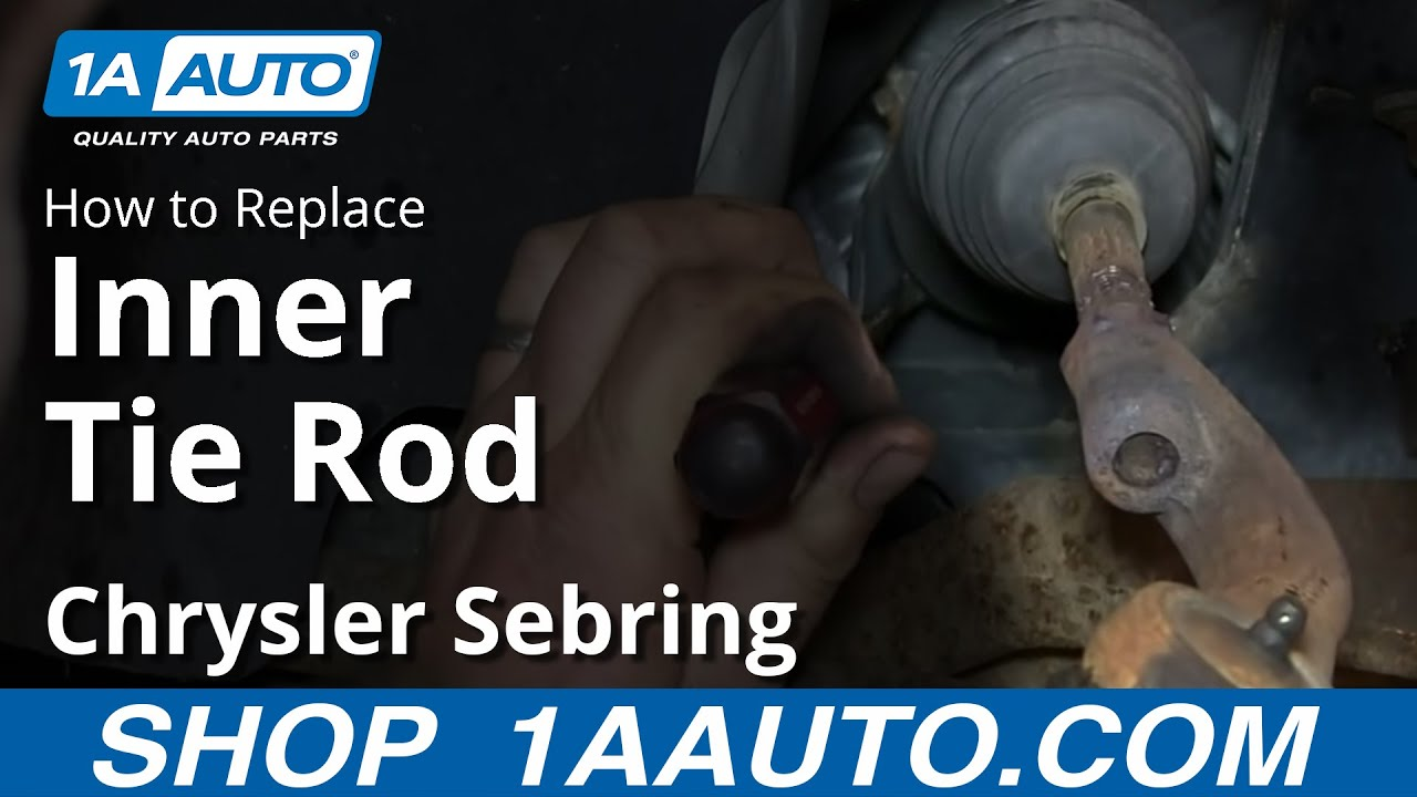 small resolution of how to install remove replace inner tie rod 2001 05 chrysler sebring