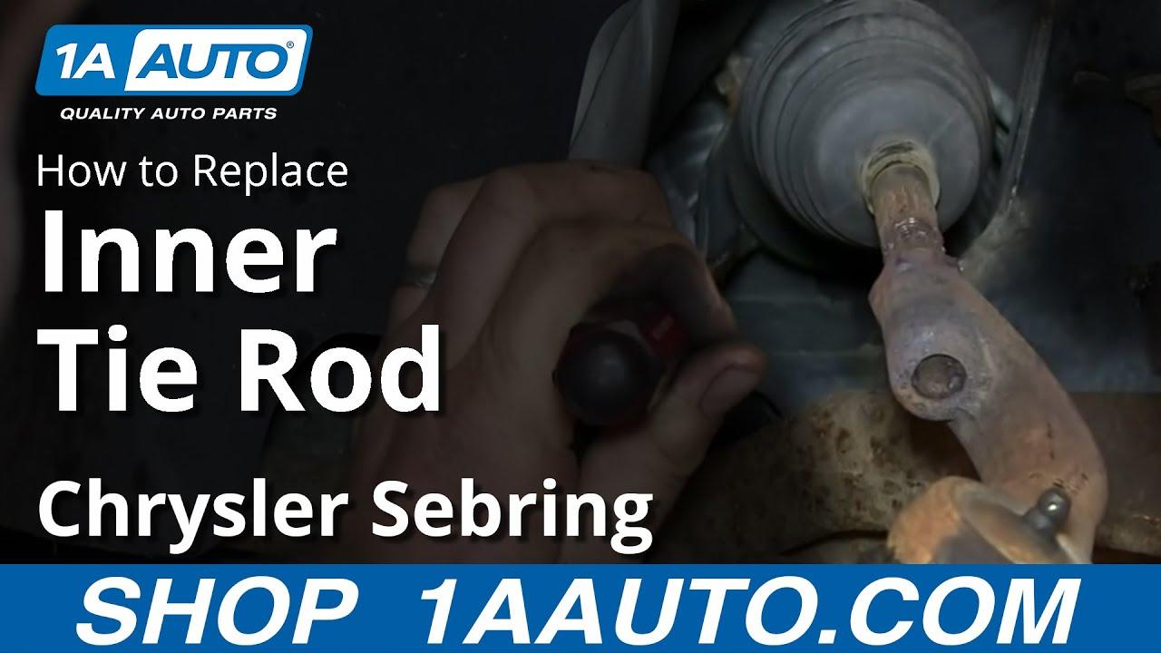 medium resolution of how to install remove replace inner tie rod 2001 05 chrysler sebring