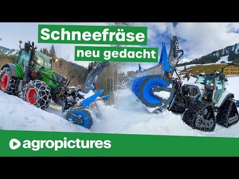 12 Wege Schneefräse von Müller Fahrzeugtechnik mit Lintrac 90, Fendt 313 und Weidemann Radlader