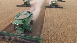 2016 Idaho Barley Harvest, Taylor & Foster Farms, John Deere