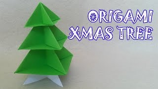 Origami Christmas Tree - Origami Easy