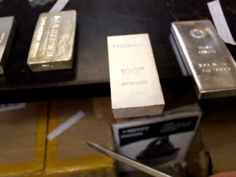 100oz Silver Bar Ring / Ping Test (real or fake RCM bar? you decide)
