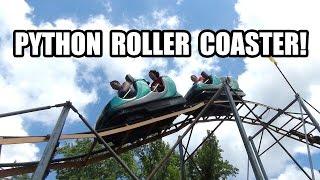 Python Roller Coaster Front Seat POV Coney Island Cincinnati