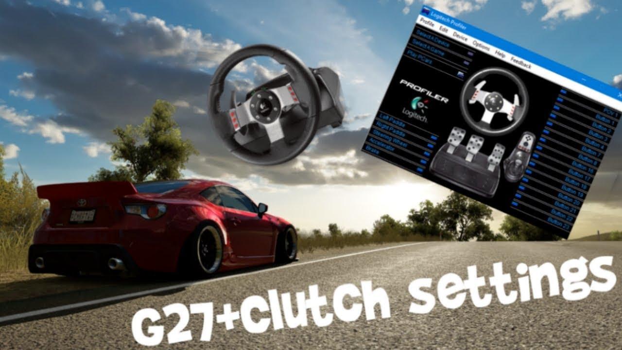 b4d38f0414b G27 + clutch Drift settings [PC] Forza Horizon 3 Logitech - YouTube