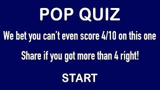 Can you answer more than 5 correctly in this pop music quiz?